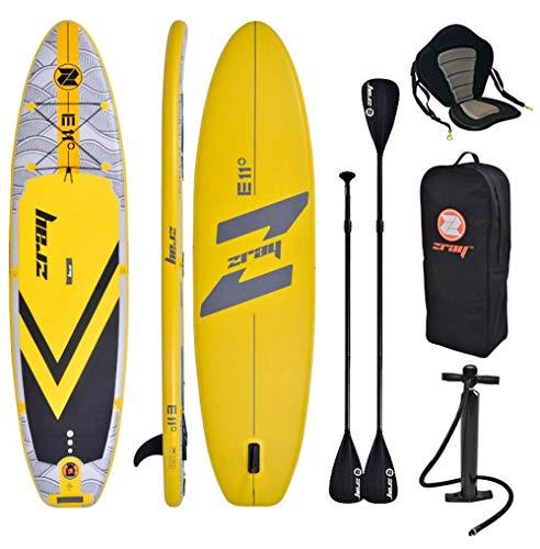 "Zray E11 Combo 11\'0\"" Aufblasbar Sup Board Stand up Paddle Komplette Packung 335x84x12cm mit Kajak Sitz und Doppelpaddel"