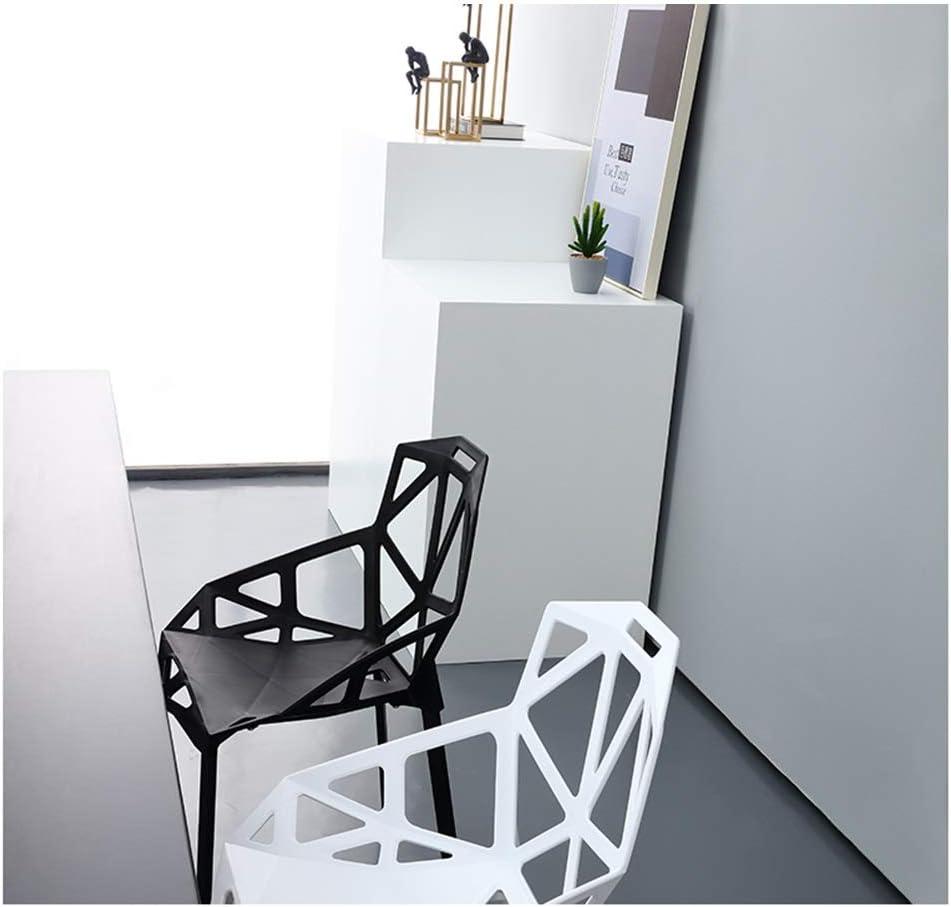 Ding Chaise de Salle à Manger géométrique créative Chaise Creuse en Plastique Minimaliste Moderne Minimaliste (Color : Orange) Black
