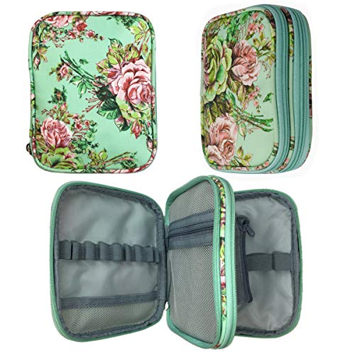 New Crochet Hook Case Without Hooks and Accessories, Zipper Storage Organizer Bag with Web Pockets for Various Crochet Needles/Knitting Accessories/Crochet Hook Kit Tools, Lightweight, Easy to Hold