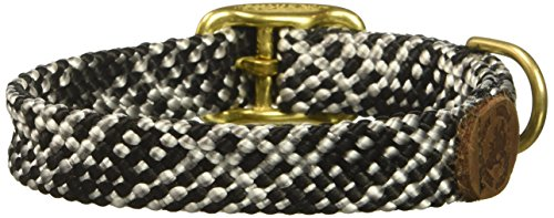 "Mendota Double-Braid Junior Collar, Salt & Pepper, 9/16"" Up to 12"""