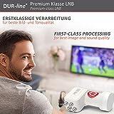DUR-line +Ultra Quad LNB – 4 Teilnehmer weiß – mit LTE-Filter, 4-Fach, digital mit Wetterschutz, Full HD, 4K,Premium-Qualität - 8