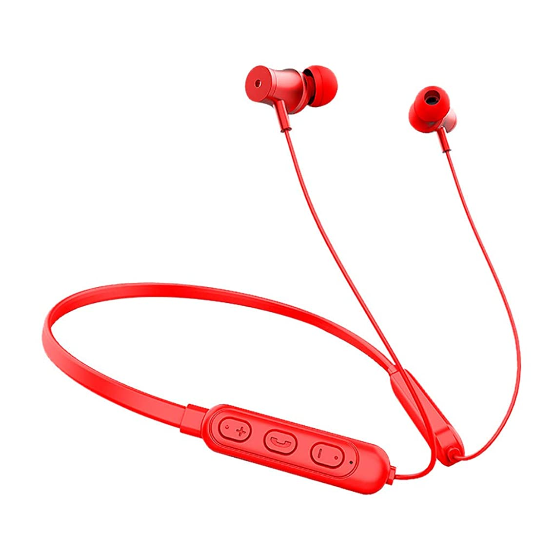 CreazyBee Wireless Earphones Magnetic Wireless Sport Headphone for iPhone/Android Headset (Red)