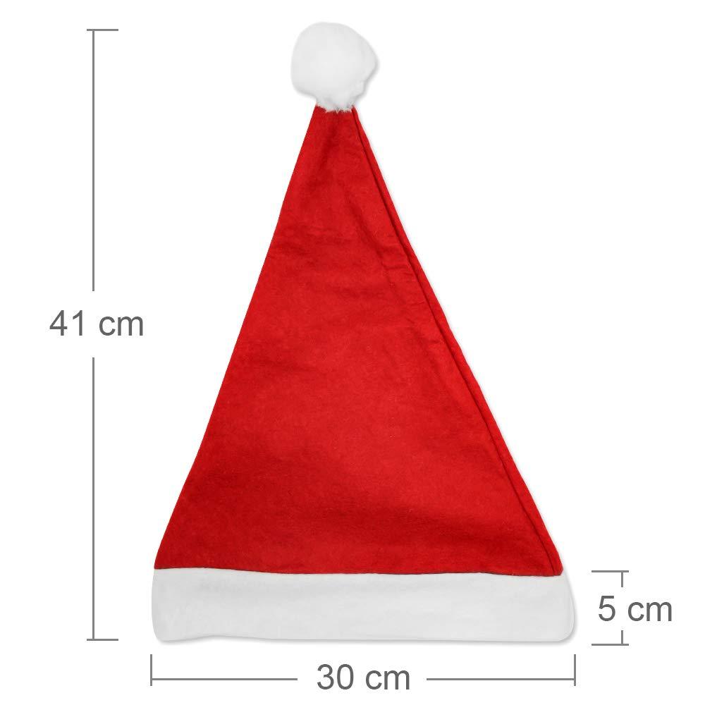 Schramm® 20 Piezas. Gorros de Navidad 30x41cm Gorros de Papá Noel Gorra de Papá Noel 20 Piezas.: Amazon.es: Juguetes y juegos