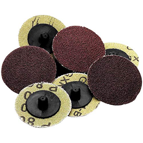 Katzco Roll Lock Sanding and Grinding Discs - 50 Pieces - 2 inch 36 Grit - for Use with Drill and Die Grinder; for any Surface Prep or Finishing Job
