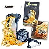 Life Dynamics Spiral Slicer, Zucchini Pasta Maker, Vegetable Slicer, Spiralizer, HandHeld Black