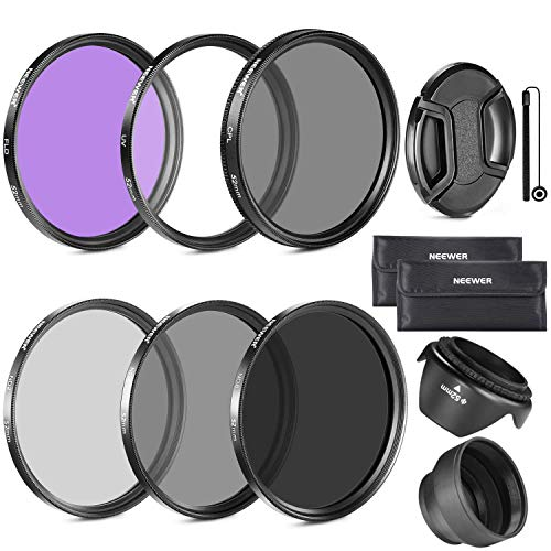 Neewer 52MM Objektiv Filter Set und Gegenlichtblende, Objektivdeckel für Nikon D7100 D7000 D5200 D5100 D5000 D3100 D3000 D90DSLR Kameras