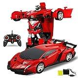 Escritorio decoración 2 en 1 RC Car Coche de deportes Robots de transformación de los modelos de coches de control remoto RC Deformación lucha regalo de cumpleaños de los juguetes 4 Años de Edad niños