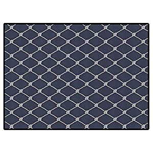 Navy Blue Decor Laundry Room Rug Navy Sea Yacht Themed Cool Classic Design in Vertical Rope Artwork Carpet for Girls Kids Baby Room Nursery Mats 6×9 Feet
