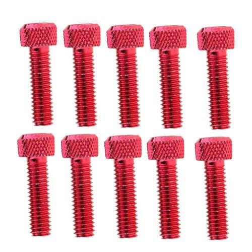 #N/a 10pcs M6x20mm Tornillos de Cabeza Hueca Hexagonal de Aluminio Perno de Llave [Rojo]