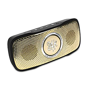Monster Cable SuperStar 24K BackFloat High Definition Bluetooth Speaker  Black/Gold