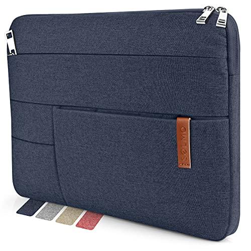 "sølmo I Design Laptop-Tasche 13-13.3 Zoll, Laptophülle 13,3 Zoll, Stoßfeste Notebooktasche kompatibel mit 13\"" MacBook Air, MacBook Pro 13, 12.3 Surface Pro, MacBook Air M1 Hülle, Blau"