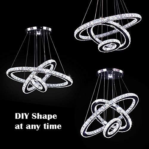 Circle crystal chandelier _image3
