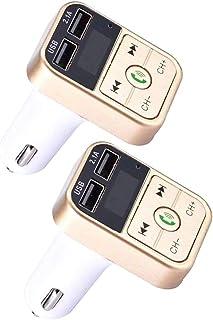 KESOTO 2x Sem Fio Bluetooth CarFM com Suporte para Cartão TF USB