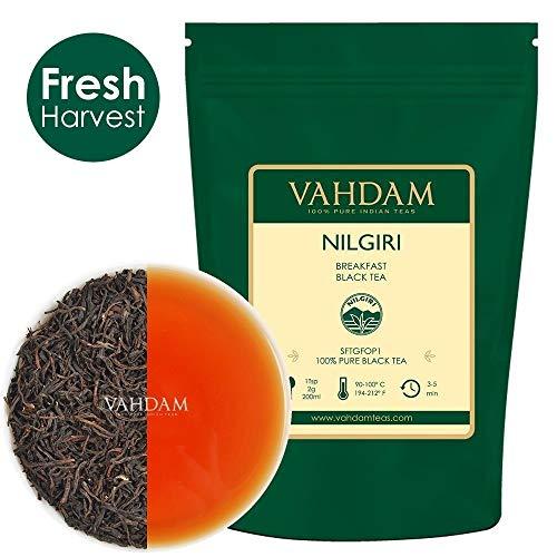 VAHDAM, Nilgiri Breakfast Schwarzer Tee (150+ Cups) | 100% Reine Schwarze Teeblätter | ROBUST & FLAVORY Englischer Tee | Schwarzer Tee Loose Leaf Tee | 340gr
