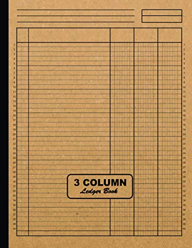 3 Column Ledger Book: Large 8.5 x 11 Columnar Pad 3 Columns | Simple All Purpose Blank Accounting 3 Column Ledger Book for Home or Business | Analysis ... to Record Income, Expenses and Finances
