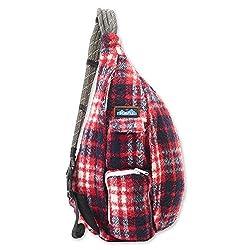 commercial KAVU Plaid Rope Sling Bag Shoulder Bag with Adjustable Shoulder Straps – Americana kavu shoulder bags