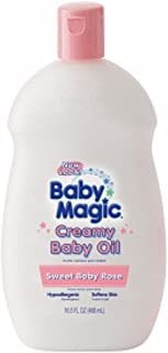 Baby Magic Creamy Baby Oil, Sweet Baby Rose 16.5 oz (Pack of 5)