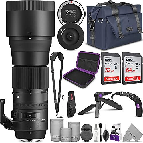 Sigma 150-600mm 5-6.3 Contemporary DG OS HSM Lens for Nikon DSLR Cameras + Sigma USB Dock with Altura Photo Complete Accessory and Travel Bundle