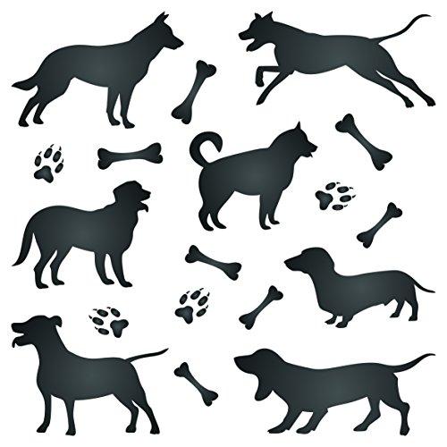 Dog silhouette stencil–riutilizzabile Pet Friend Animal Wall stencil template–da usare su carta progetti scrapbook Journal muri pavimenti tessuto mobili in vetro legno ecc. s