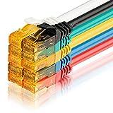 SEBSON Cable de Red Cat 6 Ethernet 1.5m, Gigabit LAN Patch Cable, 1000Mbit/s, U-UTP, Conector RJ45 para Router, Módem, TV - 10 Colores