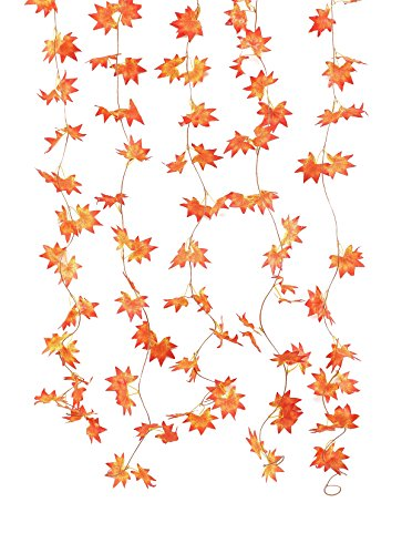 """Price comparison product image Artfen 5Pcs Autumn Maple Leaf Vines Artificial Silk Garland Hanging Plants for Home Wedding Wall Party Each 36 Leaf 7.8 Ft Long Stereo Perception Leaf Approx 3.8"""" in Diameter"""