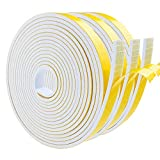 Foam Insulation Tape Self Adhesive, Weather Stripping Door Seal Strip for Doors and Windows, Sliding Door, Air Conditioning, HVAC, Sound Proof, Dust Proof, Cooling (1/2' W X 1/8' T X 13' L, 3 Rolls)