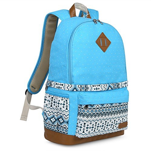 Koolertron Professional Cute Canvas Camera Case/Backpack with Rain Cover for SLR DSLR Canon Nikon Sony Camera Bag Fits for 15 Laptop(Blue-2)