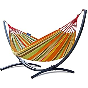 Potenza Cocoon Hammock and Steel Stand - Various Colours
