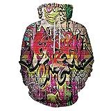 Brick Wall Hoodie Hooded Sweatshirt Graffiti Spray Paint for Kids
