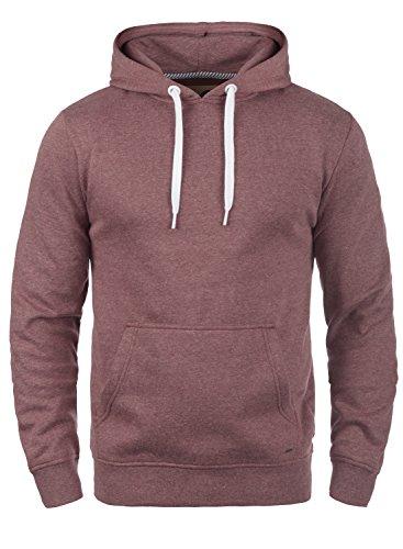 !Solid Olli Herren Kapuzenpullover Hoodie Pullover Mit Kapuze Und Fleece-Innenseite, Größe:XL, Farbe:Wine Red Melange (8985)