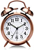 PEAKFINITY® Twin Bell Alarm Clock Silver Dial Vintage Look Table Alarm Clock with Night Led Display...