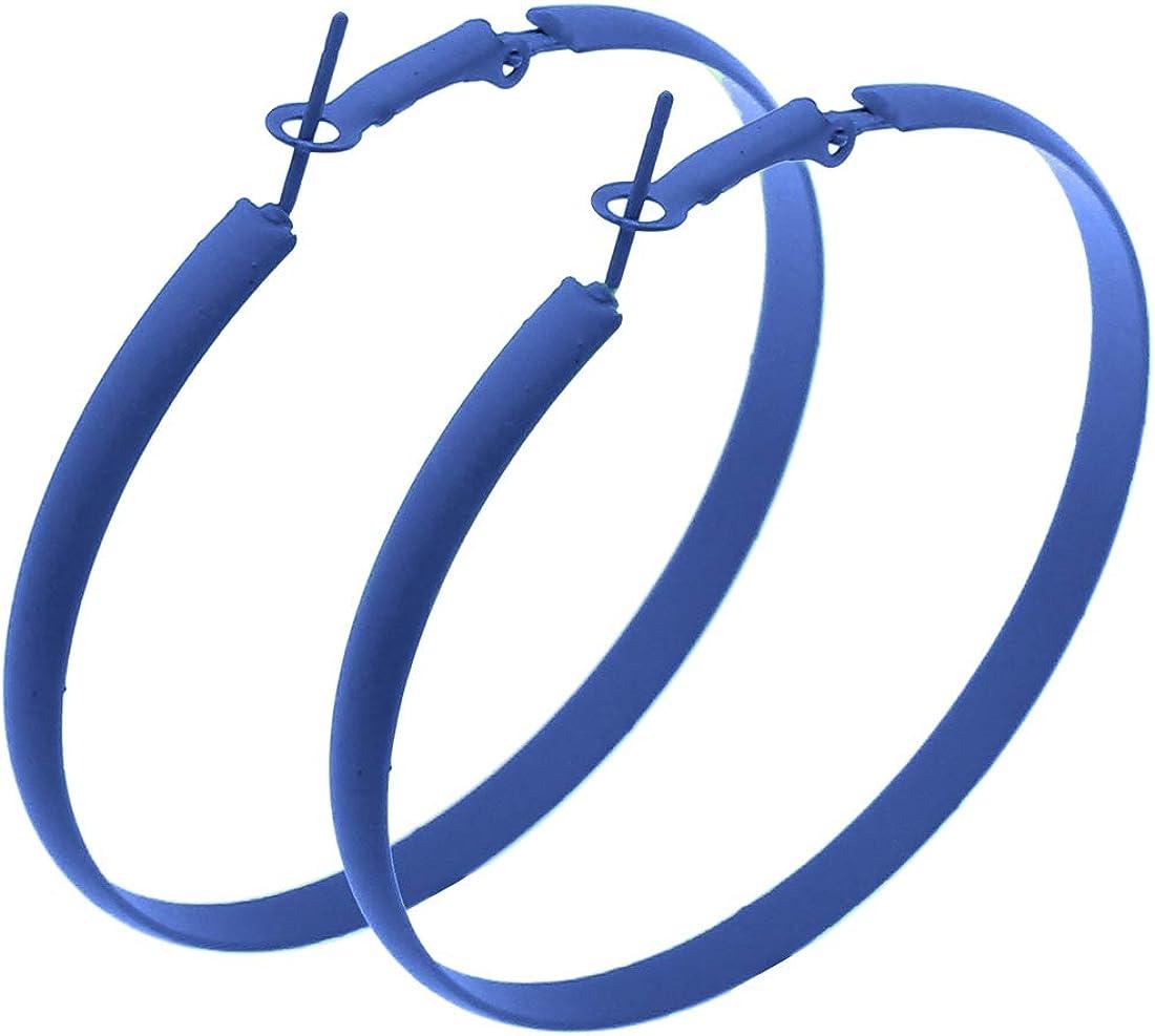 IDB Classic Iron Big Fat Hoop Earrings - 2 1/4 inch (2.25
