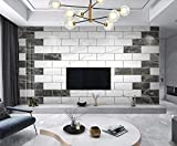 ZZXIAO Mármol de celosía rectangular blanco y negro para cocina Decoración Fotomural sala Pared Pintado Papel tapiz no tejido-400cm×280cm