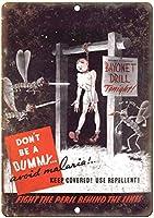 バヨネットドリルトゥナイト 金属板ブリキ看板警告サイン注意サイン表示パネル情報サイン金属安全サイン