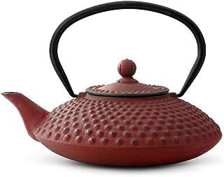 Bredemeijer Tekanna, rostfritt stål, röd, 20 x 10 x 10 cm