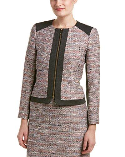 Vince Camuto Women's Front Zip Tweed Jacket, Ash Rose, 14