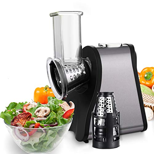 Professional Salad Maker Electric Slicer/Shredder with OneTouch Control and 4 Free Attachments for fruits vegetables and cheeses 150W