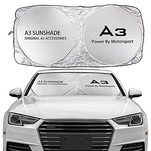 Parasoles para Parabrisas Parasol para Parabrisas de Coche Compatible con Audi A3 8P S3 8V 8L Sportback E-Tron Accesorios de limusina Reflector Anti UV Protector de Visera Accesorios Interiores Prot