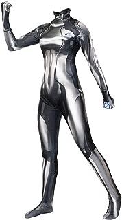 hELIuZW Women's Samus Style Zero Aran Cosplay Bodysuit Zentai Costume Spandex Black Blue
