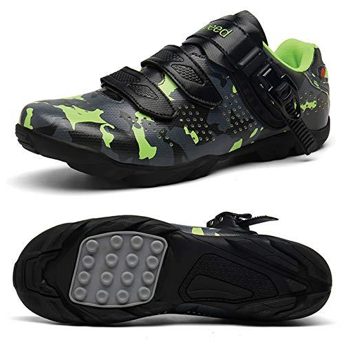 Zapatillas De Ciclismo para Hombre, Zapatillas De Bicicleta Boost Antideslizantes, Transpirables Y Resistentes Al Desgaste, Zapatillas Deportivas Asistidas con Tiras Reflectantes