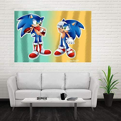 KWzEQ Leinwanddrucke Cartoon Igel Poster und Wanddekoration für Wohnzimmer60x90cmRahmenlose Malerei