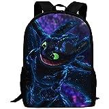 Laptop-Rucksäcke,Drachentrainer Night Fury Dragon Art   Schultaschen Rucksack Mit Mehreren Taschen...