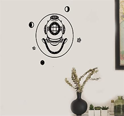 Maison Crâne avec des écouteurs musique musical Vinyle Mur Art Autocollant Décalque Chambre À Coucher Lounge Décorations murales, stickers