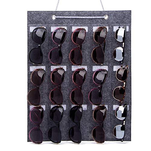 Hifot Sonnenbrille Aufbewahrung Organizer, Wand hängende Beutel Taschen für Brille Brillenetui