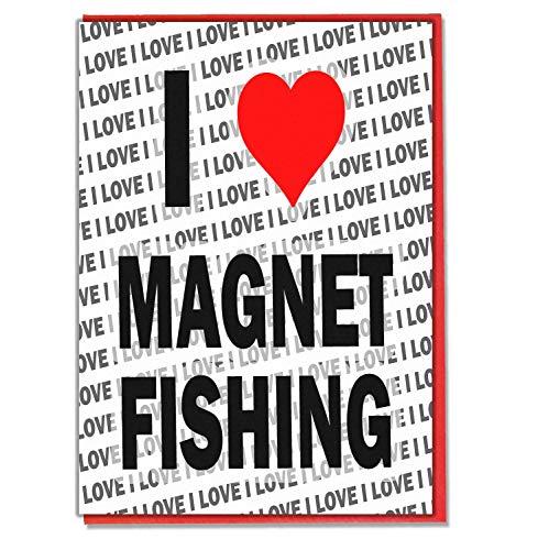 I Love Magneet Vissen - Wenskaart - Verjaardagskaart - Dames - Heren - Dochter - Zoon - Vriend - Echtgenoot - Vrouw - Broer - Zuster