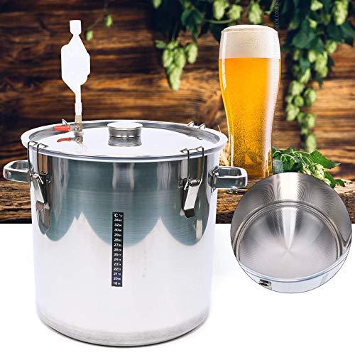 Seau de fermentation de bière 36 litres - En acier inoxydable 304 - Pour brassage de maison, bar d'hôtel