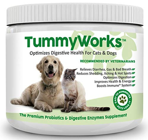 Probiotics For Dogs & Cats. Best Powder To Relieve Diarrhea, Yeast Infections, Itching, Skin Allergies & Bad Breath. Boosts Immunity. Added Digestive...