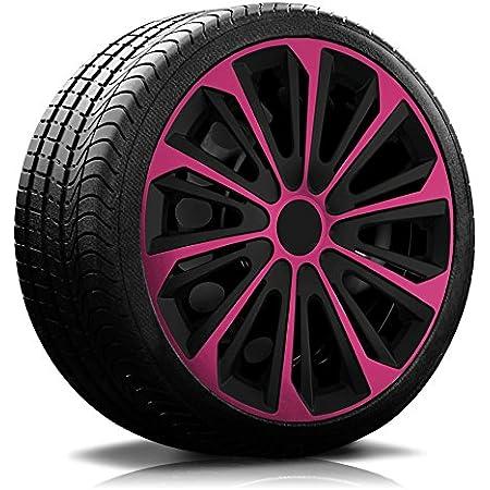 14 Zoll Rkk04 Multi Color Line Schwarz Pink Radkappen Radzierblenden 4 Stück Auto