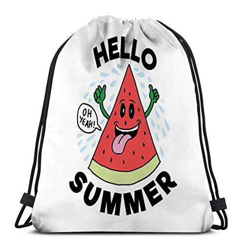 Men's And Women's Drawstring Backpack Bag Hiking Light Weight hello summer best print like hello summer best print like mug frame other