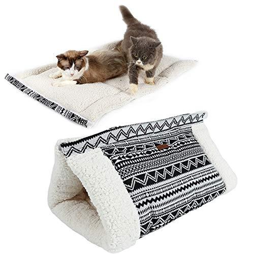 Huisdier Bed Kat Cave Puppy Bed Huisdier Nest Pluizige Hond Bed Goedkope Hond Bedden Opvouwbare Pet Bed Huisdier Bedden Voor Honden Huisdier Slaapzak black
